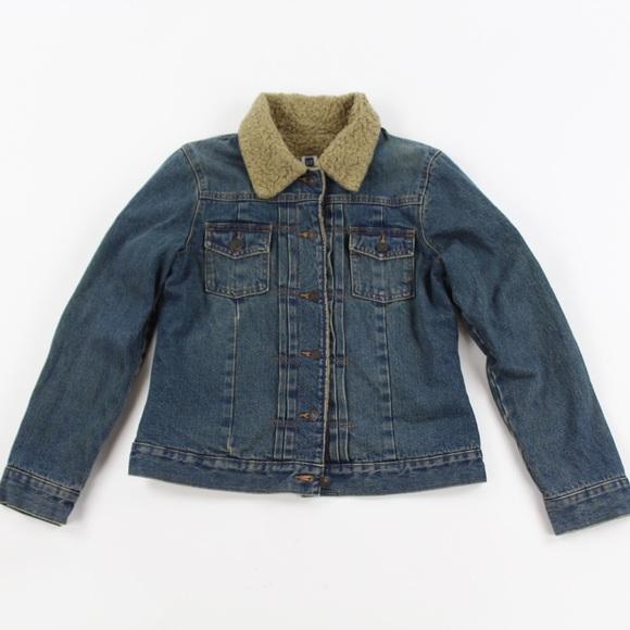 GAP Jackets & Blazers - GAP Womens Sherpa Lined Denim Jean Jacket Sz S